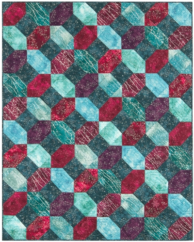 Twilight Crossing Pieced Quilt