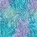 Sand Dollar pattern fabric in purple, blue, and lime green.