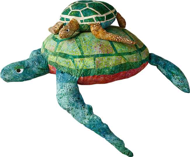 Sea Turtle and Starfish Pillows