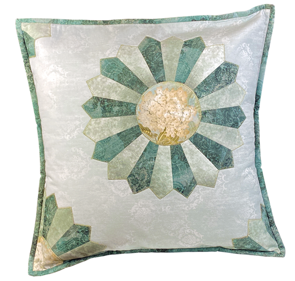 Dresden Plate Square Pillow Fabric Kit