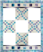 Full quilt border kit to piece five Woodland Hollow applique blocks into a beautiful quilt