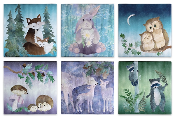 Complete Set of 6 applique patterns for Woodland Hollow by McKenna Ryan