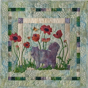 Paws in the Poppies and Complete Quilt Instructions - SOLD OUT - DISCONTINUED