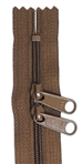 "Medium Brown 24"" Double Pull Zipper"