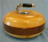 Full Size Wooden Curling Stone