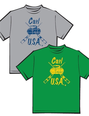 Curl USA Distressed Logo T-shirt