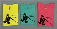 Throw Like A Girl Short Sleeve T-shirt