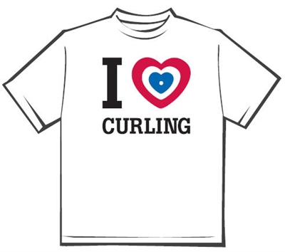 I Love Curling T-shirt