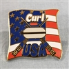 Curl USA Flag Pin