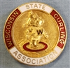 WI State Curling Association Pin