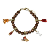 Dog Lover Charm Bracelet in Gold