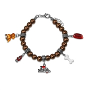 Dog Lover Charm Bracelet in Silver
