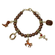 Horse Lover Charm Bracelet in Gold