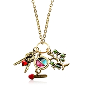 Teen Girl Charm Necklace in Gold