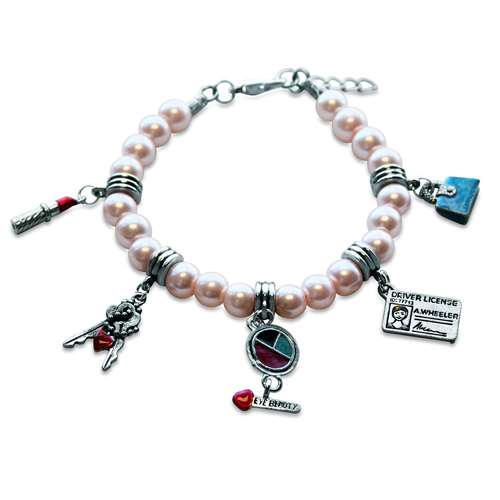 Teen Girl Charm Bracelet in Silver