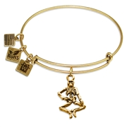 Skeleton Charm Bangle in Gold