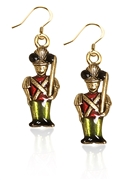 Nutcracker Charm Earrings in Gold