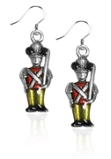 Nutcracker Charm Earrings in Silver
