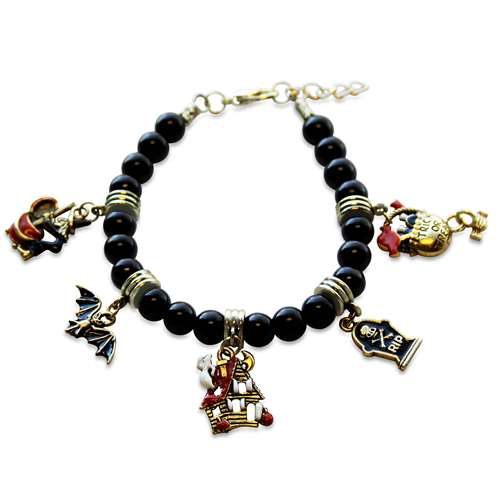 Halloween Charm Bracelet in Gold