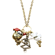 Halloween Charm Necklace in Gold