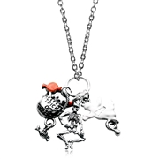 Halloween Charm Necklace in Silver