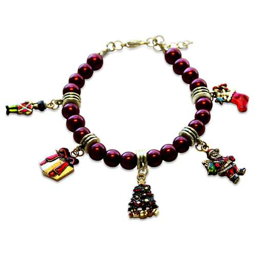 Christmas Charm Bracelet in Gold