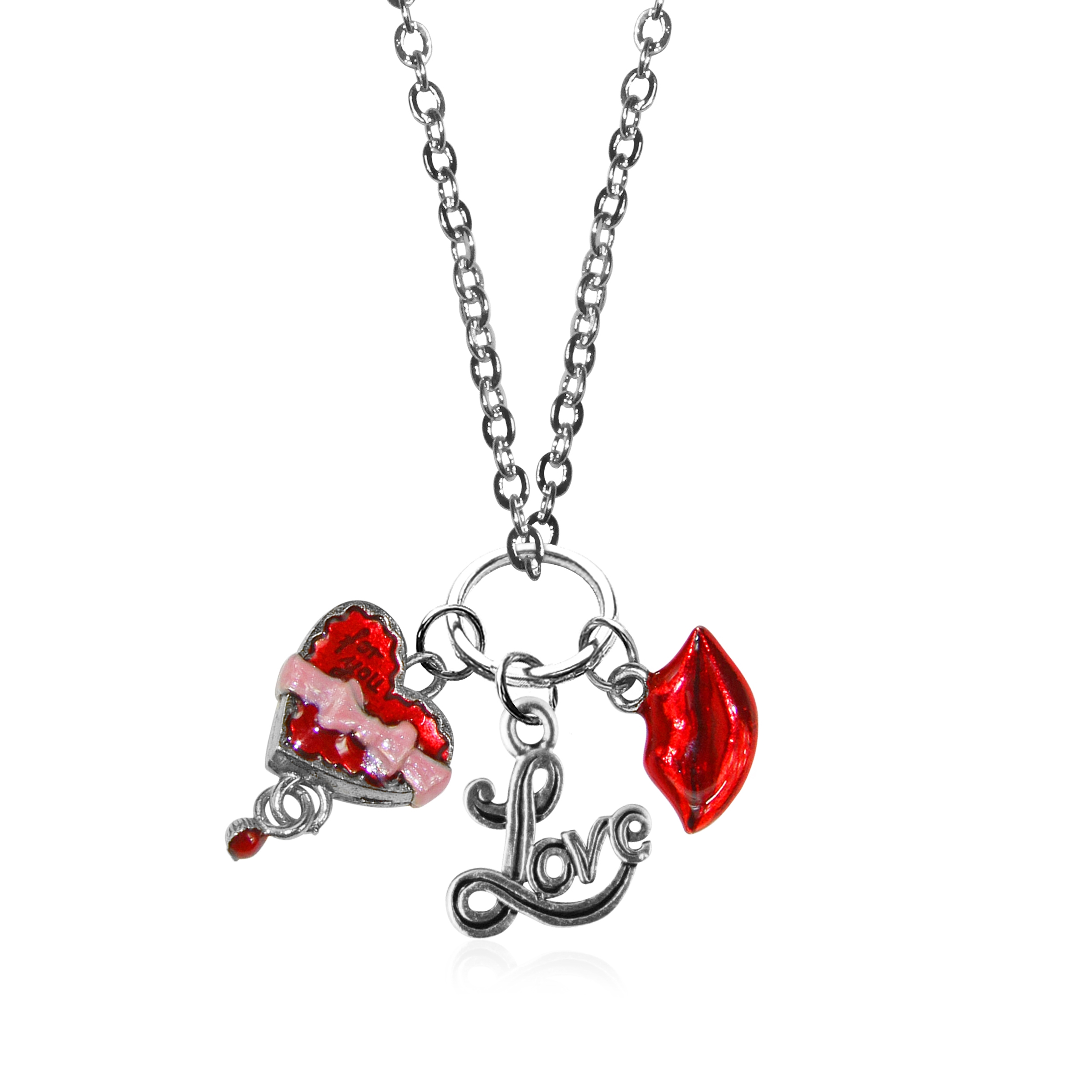necklace silver charm in valentines htm day p nl