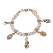 Easter Charm Bracelet in Gold