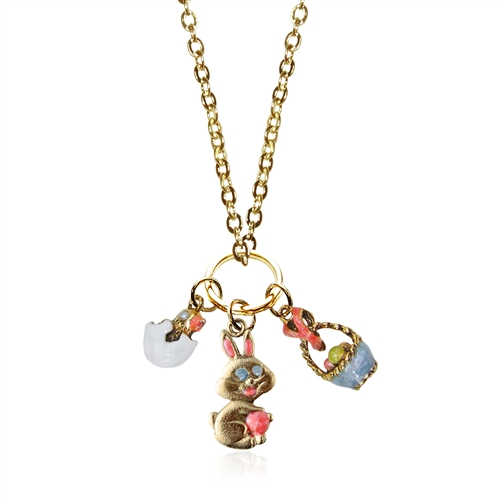 Easter Charm Necklace in Gold