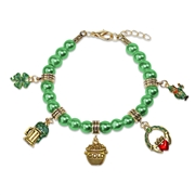 St. Patrick's Day Charm Bracelet in Gold
