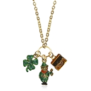St. Patrick's Day Charm Necklace in Gold
