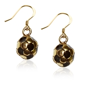 Soccer Charm Earrings in Gold