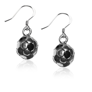 Soccer Charm Earrings in Silver