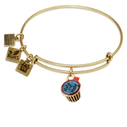 Half and Half Charm Bangle in Gold