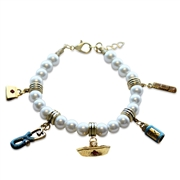Whimsical Gifts Nurse Charm Bracelet in Gold