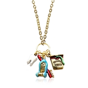 Whimsical Gifts Dental Assistant Charm Necklace in Gold