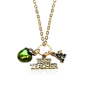 Teacher Charm Necklace in Gold