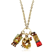 Artist Charm Necklace in Gold