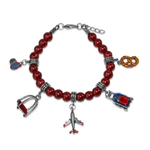 Flight Attendant Charm Bracelet in Silver