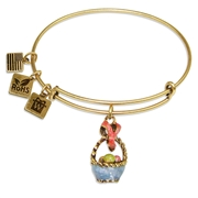 Easter Basket Charm Bangle in Gold