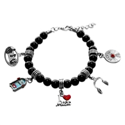 Music Lover Charm Bracelet in Silver