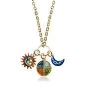 Astrology Charm Necklace in Gold
