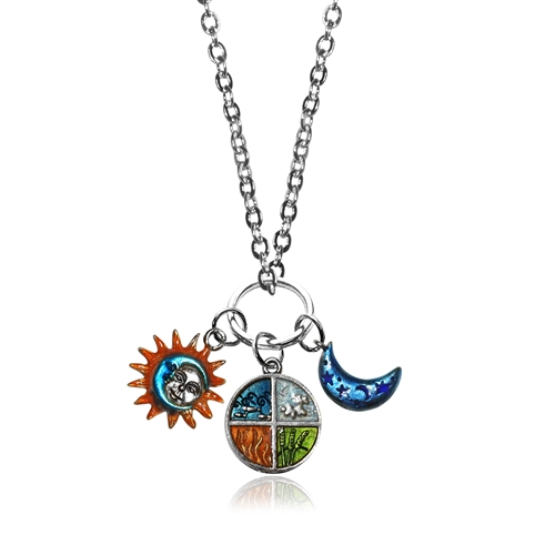 Astrology Charm Necklace in Silver