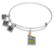Crayons Charm Bangle in Silver