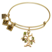 Money Tree Charm Bangle in Gold