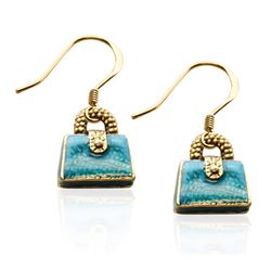 Purse Charm Earrings in Gold