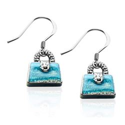 Purse Charm Earrings in Silver
