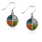 Astrology 4-Elements Charm Earrings in Silver