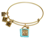 Born to Shop Charm Bangle in Gold
