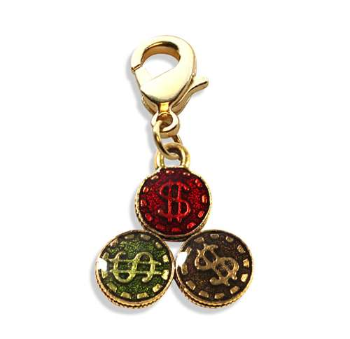 Casino Chips Charm Dangle